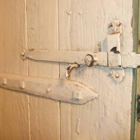 wood door latch