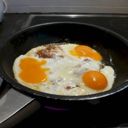 pan fried egg
