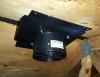 ATMOX Ridge Vent Fan mounted under ridge vent