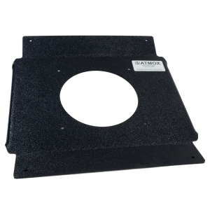 ATMOX ridge vent fan mount for a 4-12 pitch roof