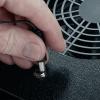 ATMOX 12V AC Adapter Plugged into ATMOX Fan