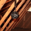 Photo of installed pipe fan in attic space