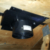 Installed photo of ATMOX Ridge vent attic exhaust fan