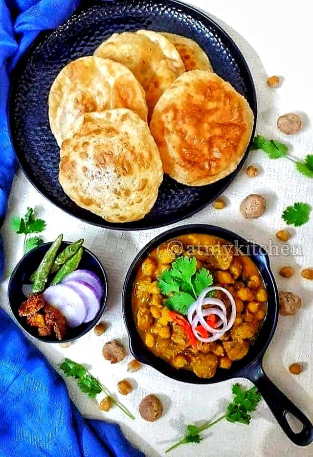 Chickpea Soya Curry/ Chole Soya Curry/ Indian Style Chickpea Curry