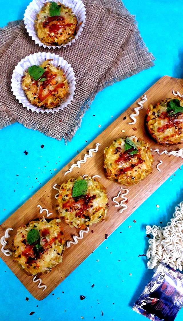 Cheesy Maggi Muffins / Maggi Muffins
