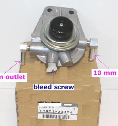 oem genuine fuel filter priming base to fit nissan gq patrol with td42 [ 2000 x 1591 Pixel ]