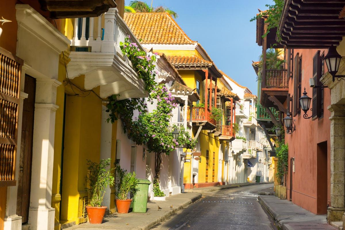 Preciosa calle de Cartagena de Indias