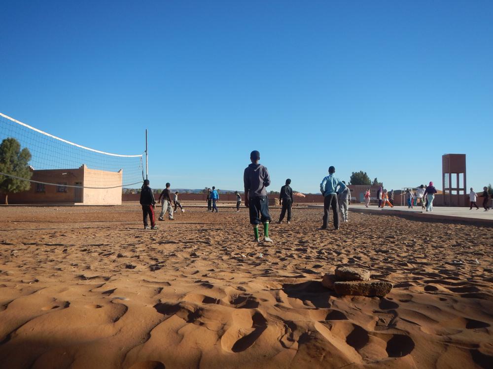 niños jugando en Tagounite