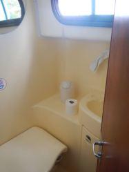 WC en el crucero fluvial