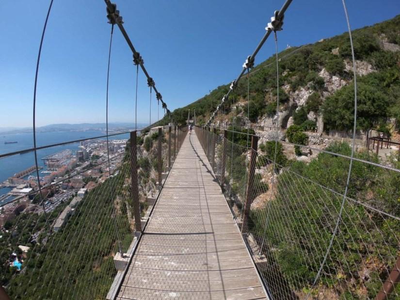 Uno de los senderos de Gibraltar
