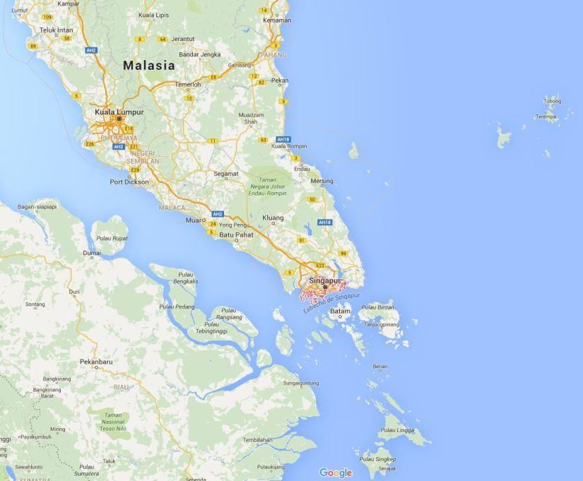 mapa singapur