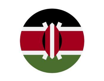 Bandera redonda Kenia