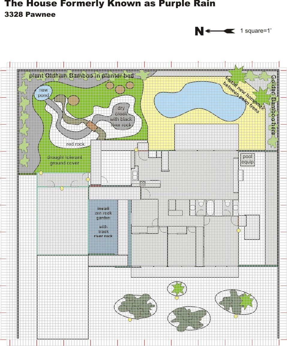 Master Plan Drawings: Landscape Back