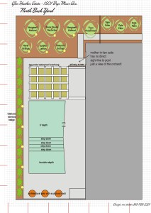 1501 Bryn Mawr Back Yard Plan NORTH