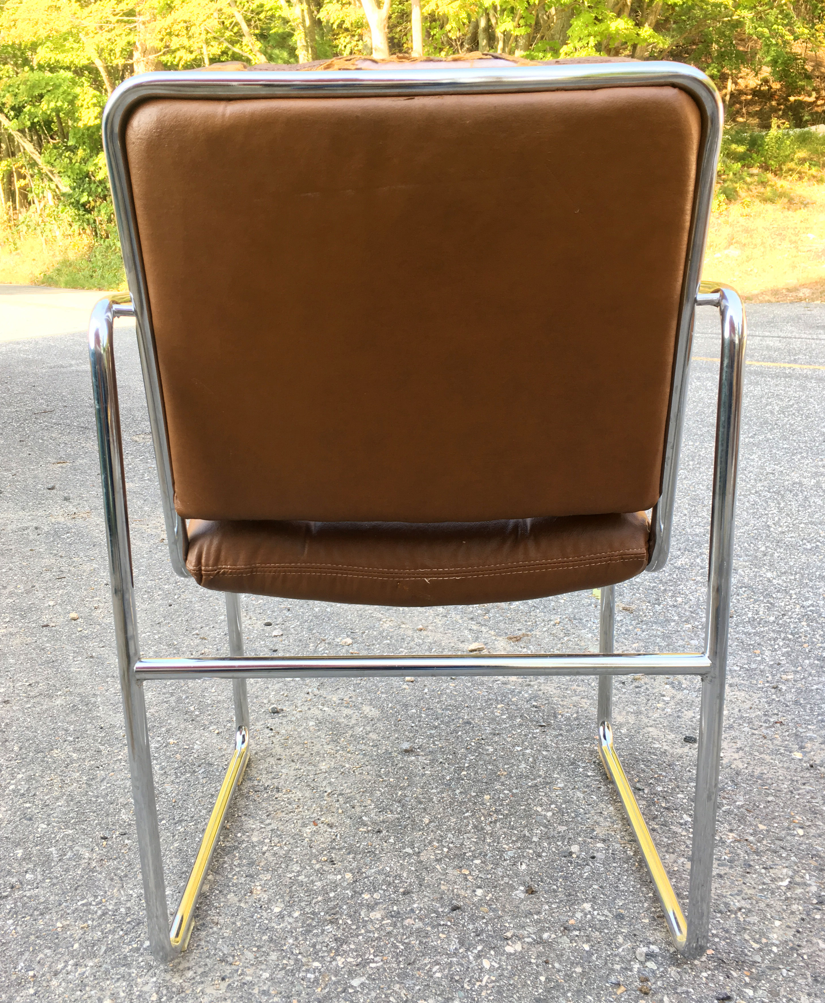 chromcraft furniture kitchen chair with wheels pass through window set of 4 tubular chrome dining chairs  atomic flat