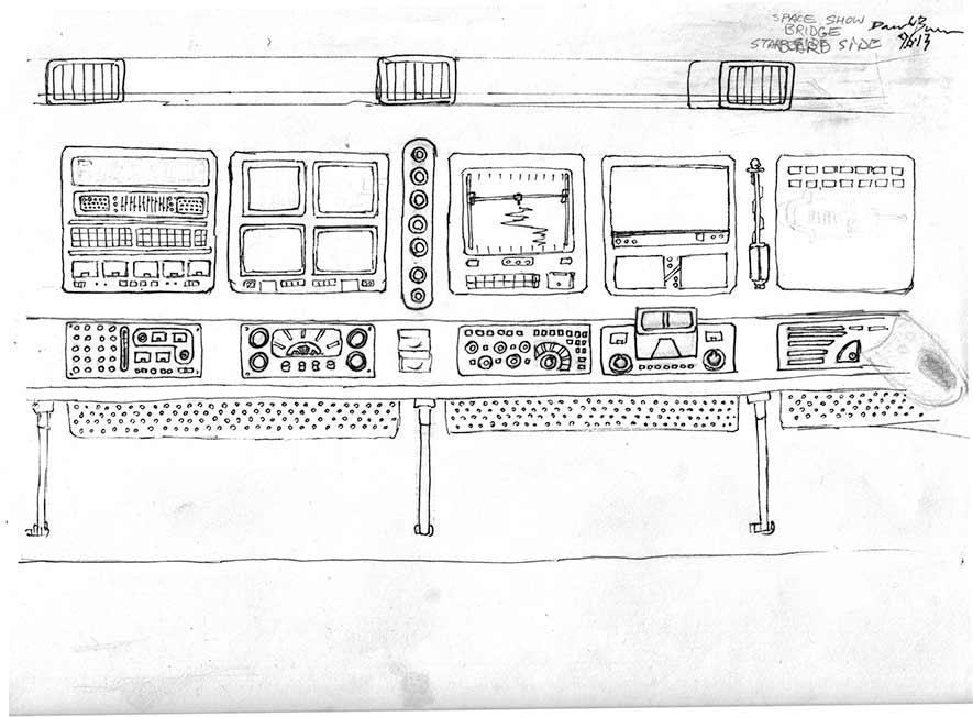 Original Line Artwork - Starboard Panels
