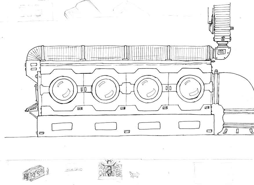 Original Line Artwork - Engineering Equipment