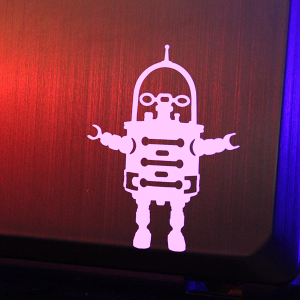 vintage robot decal