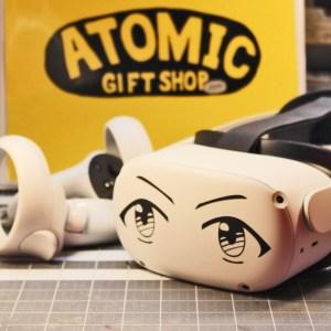 Anime Manga Eyes Vinyl Decal on Oculus Quest 2 Headset