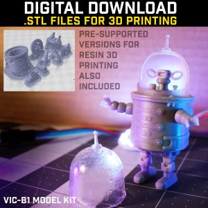 3d printed robot model kit miniature download