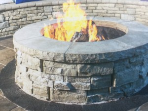 The Rivercrest Firepit Kit from Unilock