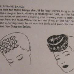 Pin Curl Diagram Vintage Telecaster Wiring 1940s Hairstyles Atomic Panther For Setting Your Curls To Create Half Wave Bangs