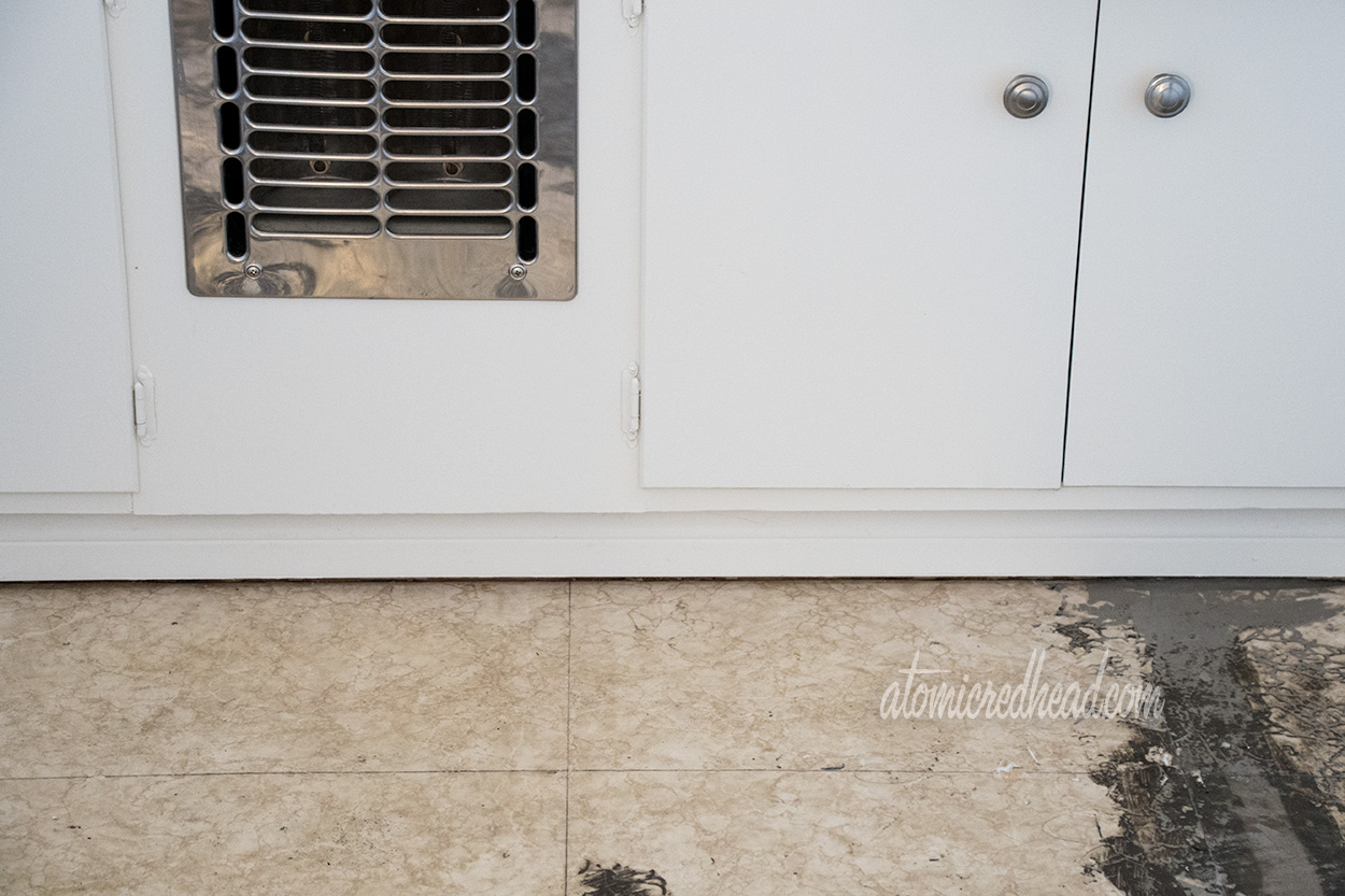 Our 1954 Home: Floors | Atomic Redhead