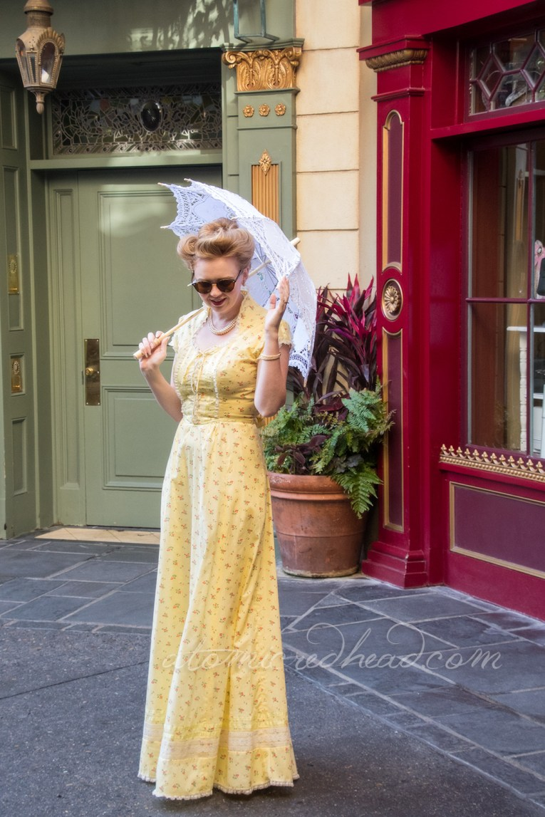 In New Orleans Square in my Spring Dapper Day Dress.