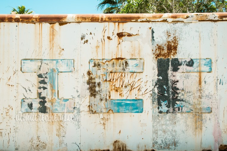 Old ice machine, fading and rusting
