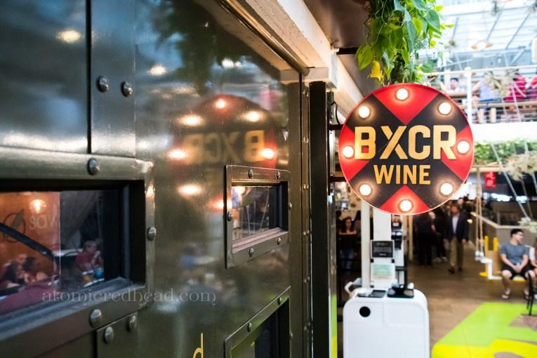 BXCR Wine, a train themed wine bar.