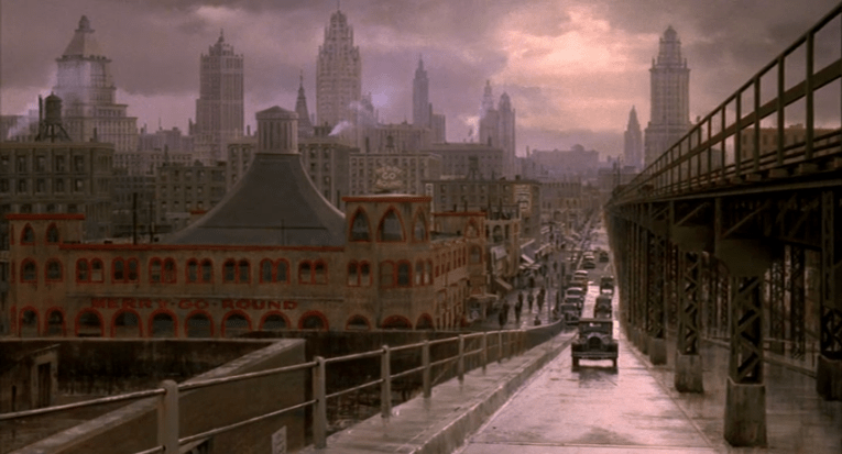 Screencap from The Sting, which features the Hippodrome, and instead of a pier, a road goes into Chicago.