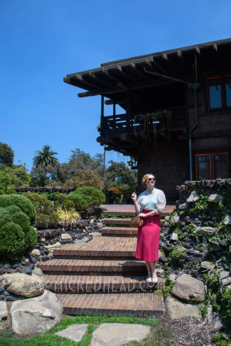 Me standing outside of the Gamble House.