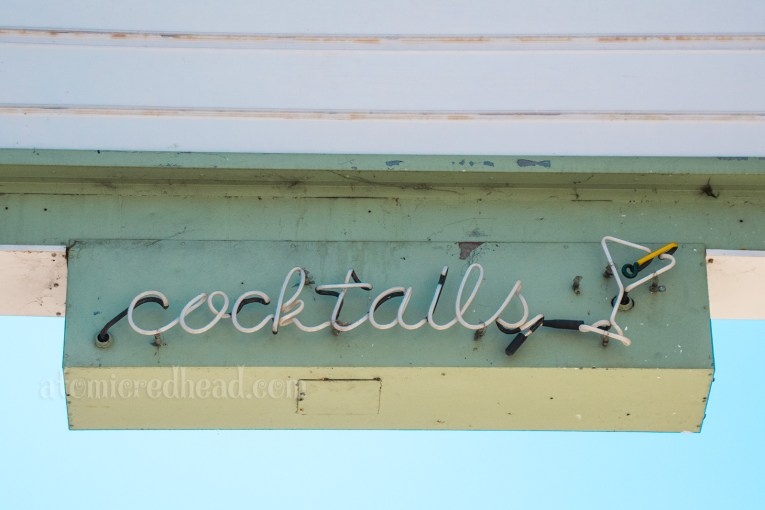 "Close-up of ""cocktails"" in neon."