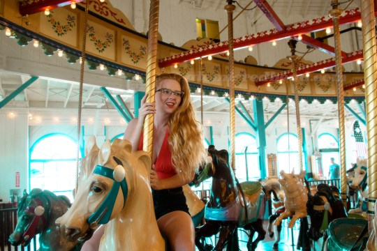 Me riding the carousel.