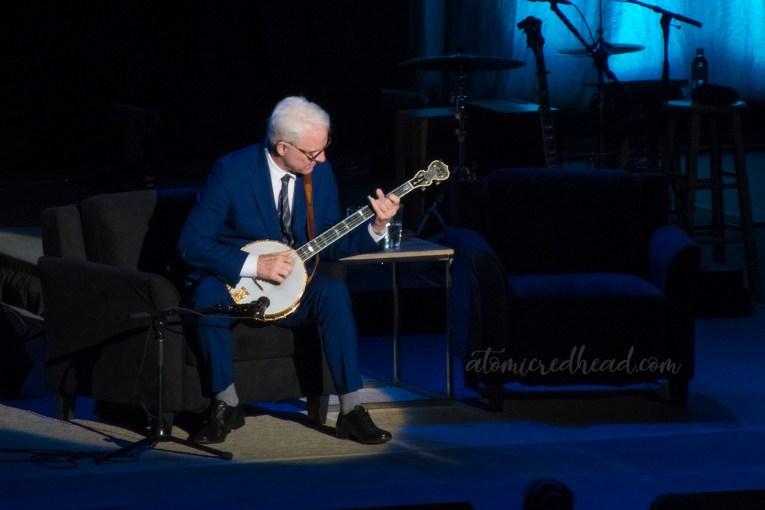 Steve Martin plays the banjo