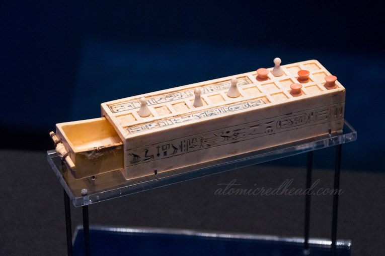 A mini version of the game Senet.