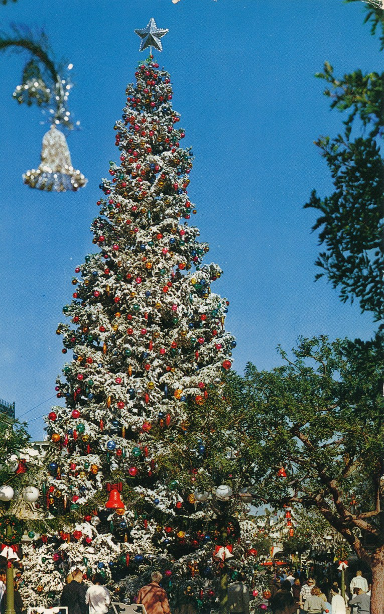Disneyland's tall Christmas tree.
