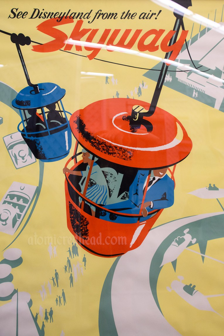 Skyway attraction poster - a gondola attraction where guests rode over the park.