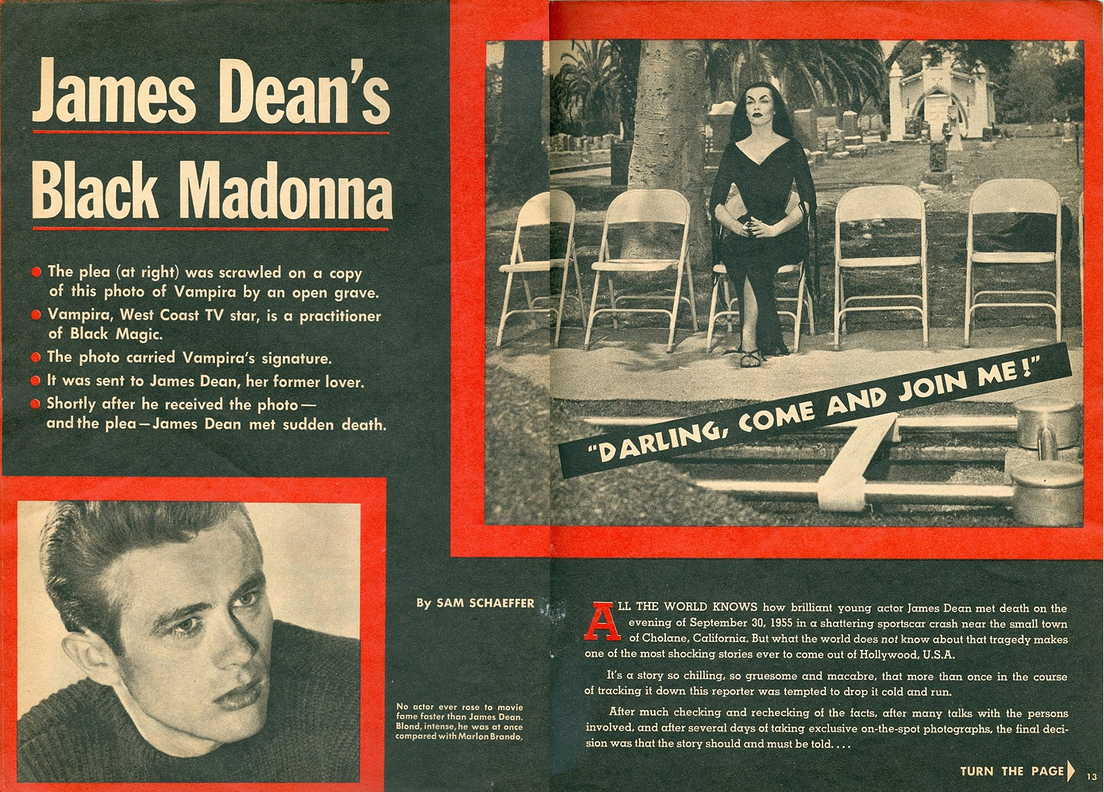 The Mysterious Horror Hostess that Reportedly Cursed James Dean