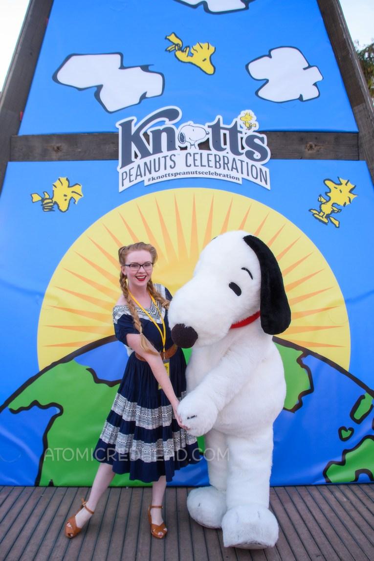 Myself meeting Snoopy.