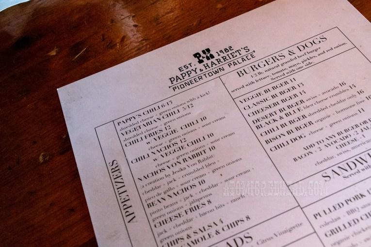 A peek at the menu.