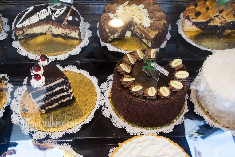 The cake offerings at Sherman's.