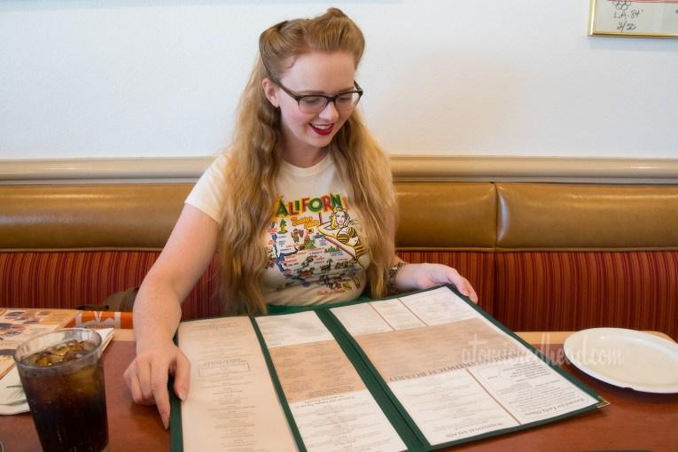 Myself looking at the menu.