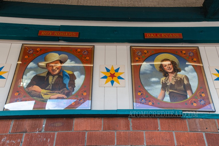 Murals of Roy Rogers and Dale Evans