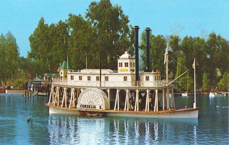 The Cordelia K, a small paddle wheel style riverboat.