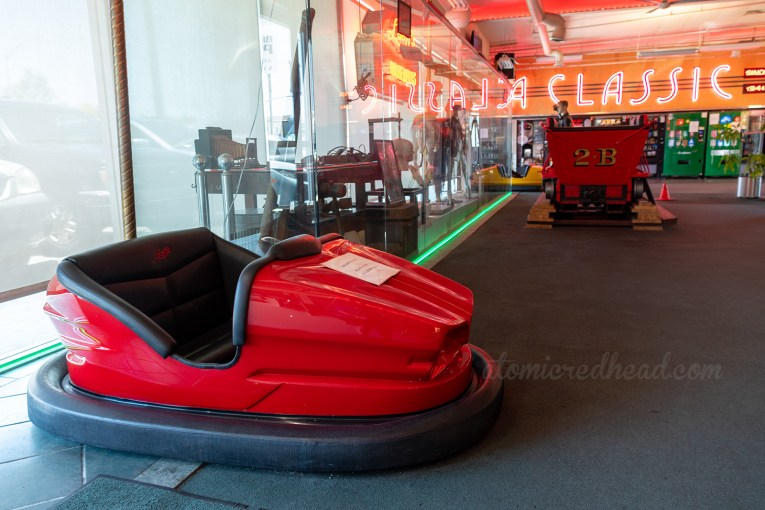 A red bumper car.