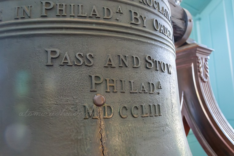 Close up of the replica bell.