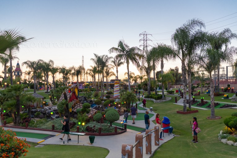 Overall view of the mini golf course.