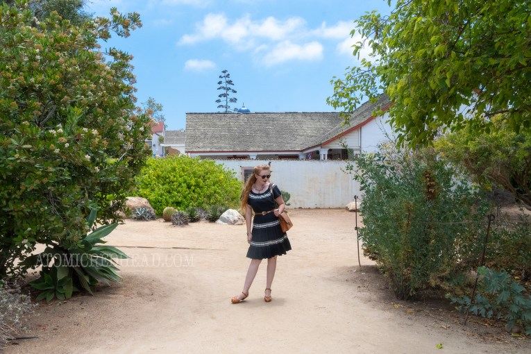 Myself walking through the gardens of one of the adobes.