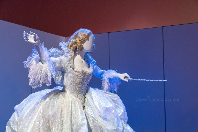The fairy godmother's dress from the live action Cinderella, which is a full white gown that sparkles.